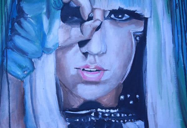 Wall Art - Painting - Lady Gaga Portrait by Mikayla Ziegler