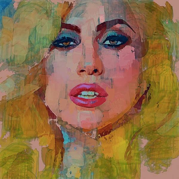 Voices Digital Art - Lady Gaga Portrait by Yury Malkov