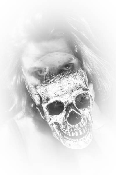 The Undead Photograph - Lady Ghost Skull by Erin Cadigan