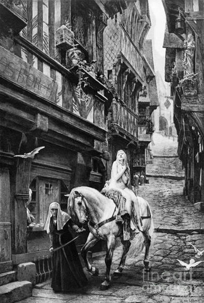 Turn Of The Century Wall Art - Photograph - Lady Godiva, 11th Century by Granger