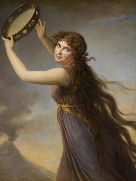 Wall Art - Painting - Lady Hamilton, As A Bacchante by Elisabeth Louise Vigee-Lebrun