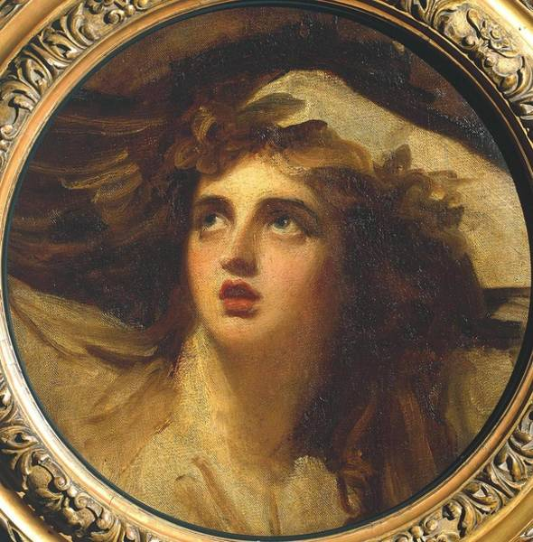 Romney Painting - Lady Hamilton As Cassandra by George Romney