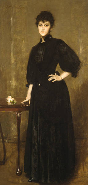 Painting - Lady In Black by William Merritt Chase