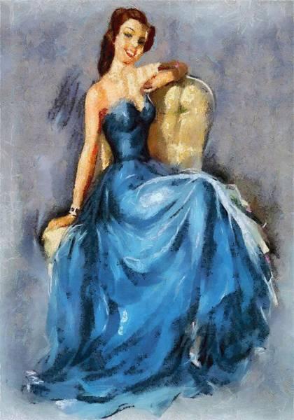 Digital Art - Lady In Blue by Charmaine Zoe