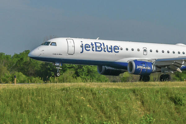 Jetblue Wall Art - Photograph - Lady In Blue by Guy Whiteley