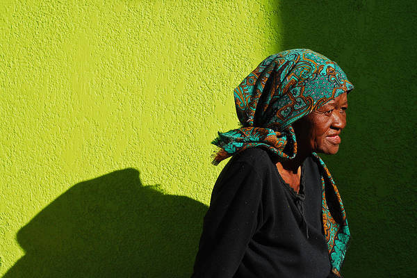 Scarf Wall Art - Photograph - Lady In Green by Skip Hunt