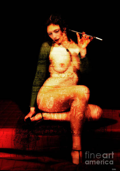 Wall Art - Photograph - Lady In Green With Cigaret Pipe by The Hybryds
