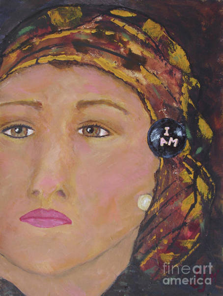 Painting - Lady In Head Scarf  by Shelley Jones