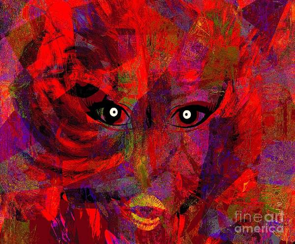 Promotion Mixed Media - Lady In Red  by Fania Simon