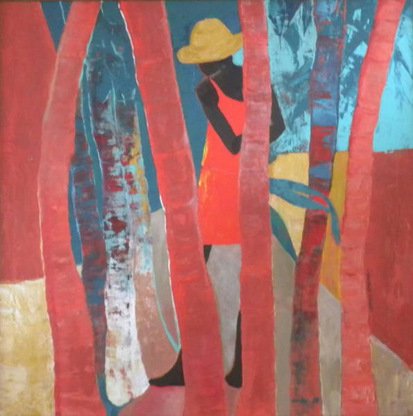 Caribbean Wall Art - Painting - Lady In Red  Number Two by Jan Farara