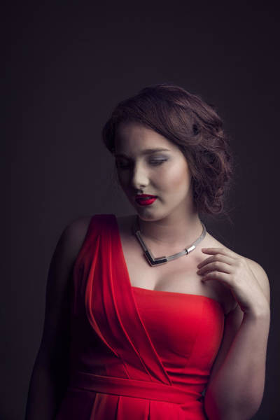 Photograph - Lady In Red by Peter Lakomy