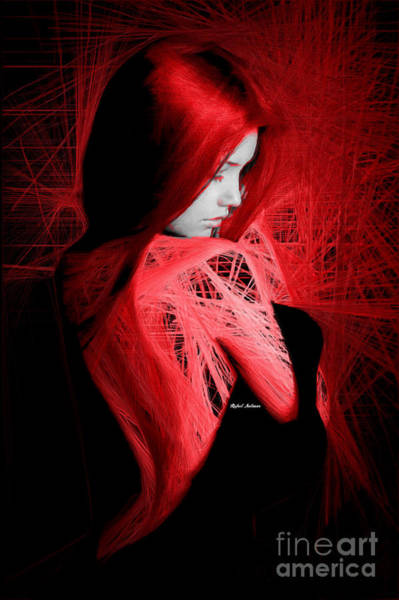 Digital Art - Lady In Red by Rafael Salazar