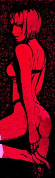 Lingery Wall Art - Digital Art - Lady In Red by Steve K