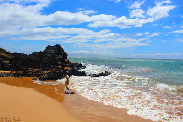Ocean Wall Art - Photograph - Lady On Hawaiian Beach  by Michael Rucker