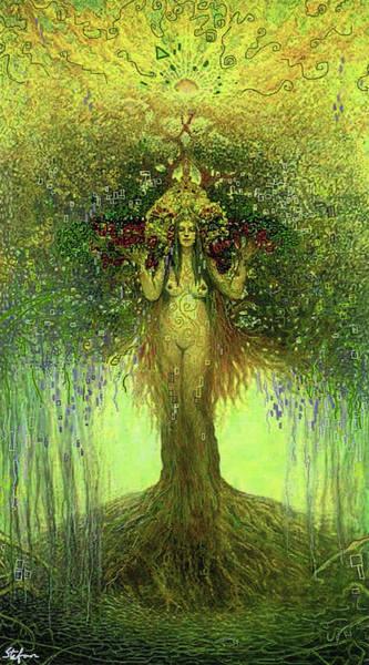 Digital Art - Lady In The Tree by Stefan Duncan