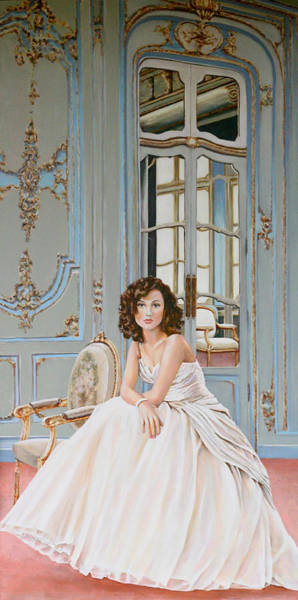 Lady In Waiting Painting - Lady In Waiting by Andy Lloyd