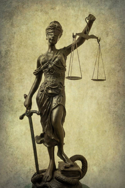 Wall Art - Photograph - Lady Justice by Garry Gay