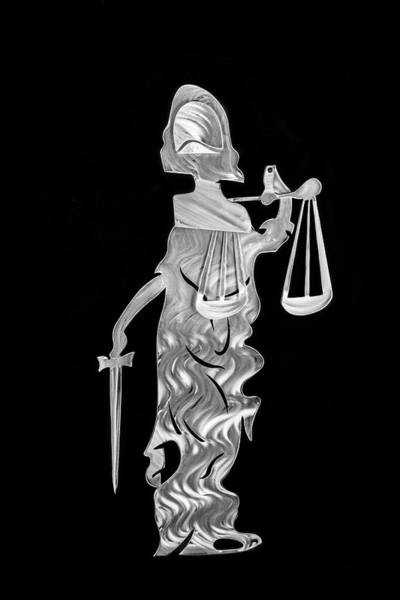 Wall Art - Sculpture - Lady Justice by Mac Worthington