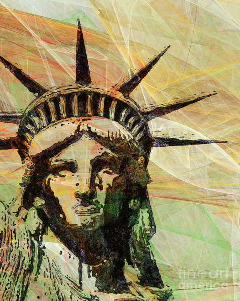 Photograph - Lady Liberty Head 20150928 by Wingsdomain Art and Photography