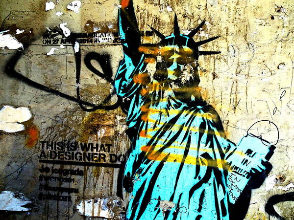 Arte Photograph - Lady Liberty In Beirut by Funkpix Photo Hunter