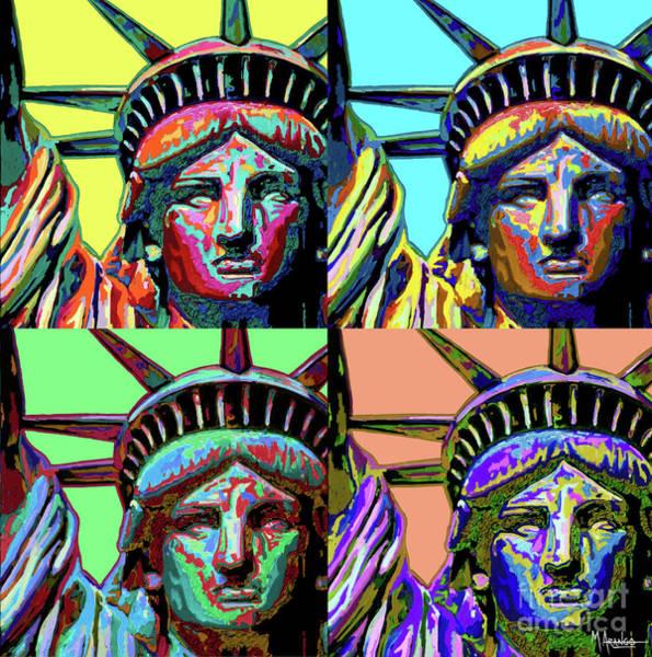 Richard Morris Hunt Wall Art - Mixed Media - Lady Liberty by Maria Arango