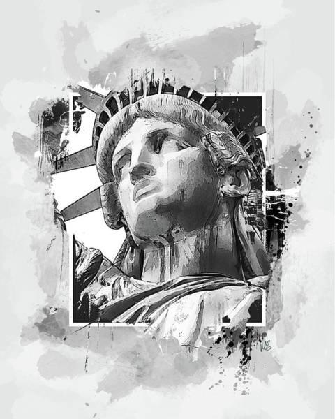 Wall Art - Mixed Media - Lady Liberty by Melissa Smith