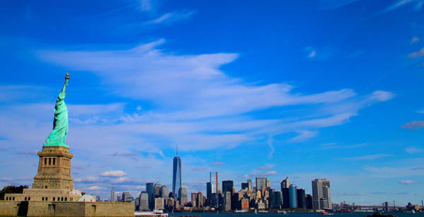 Photograph - Lady Liberty Watching New York City by Dan Sproul