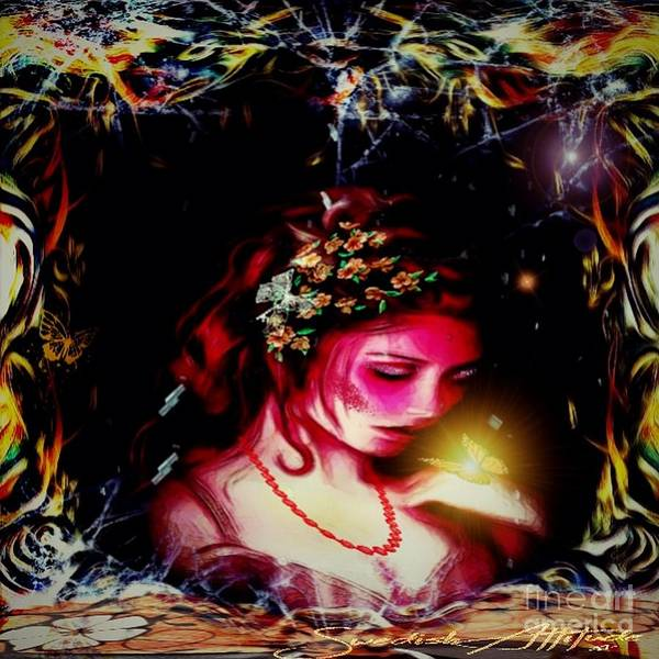 Digital Art - Lady Magic Butterfly by Swedish Attitude Design