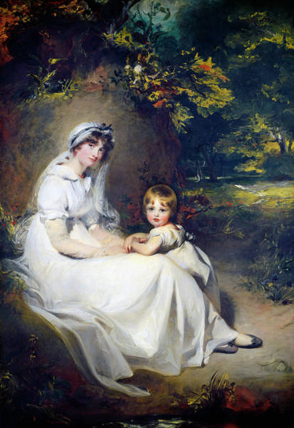 Painting - Lady Mary Templetown And Her Eldest Son by Sir Thomas Lawrence