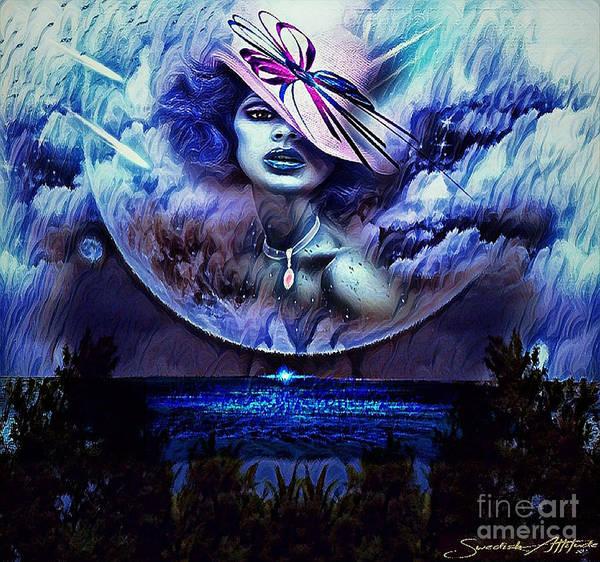 Digital Art - Lady Moon Light  by Swedish Attitude Design