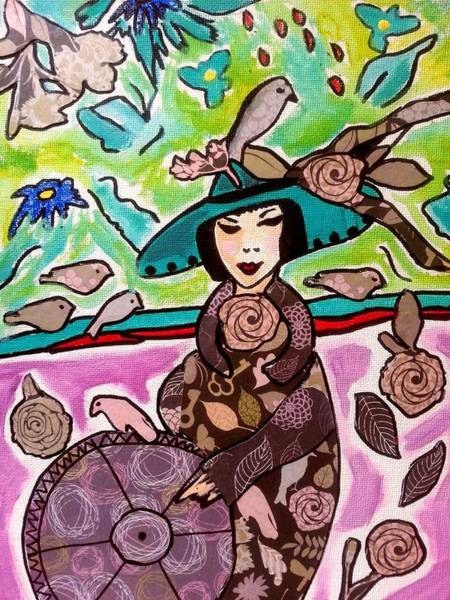 Painting - Lady Of The Birds by Nikki Dalton
