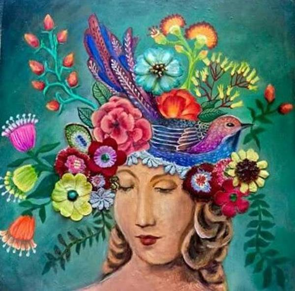 Mixed Media - Lady Of The Garden by Amy Lindemann