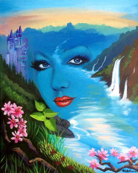 Wall Art - Painting - Lady Of The Lake by Robert Korhonen