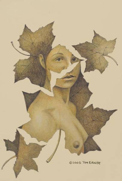 Lady Of The Leaf 3 Art Print