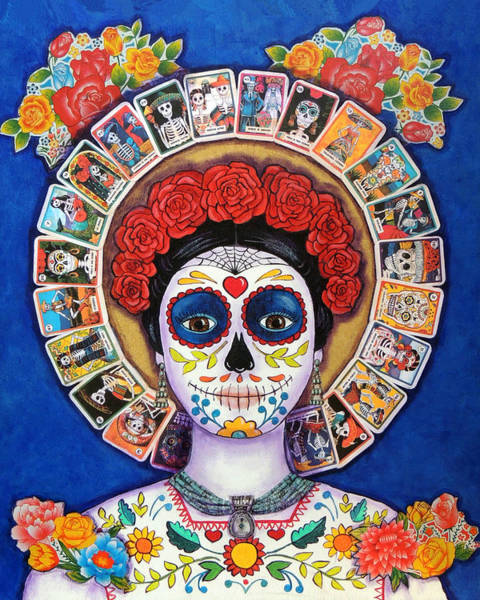 Wall Art - Painting - Lady Of The Loteria by Candy Mayer