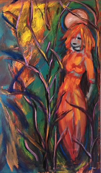 Painting - Lady Of The Moon by Katt Yanda