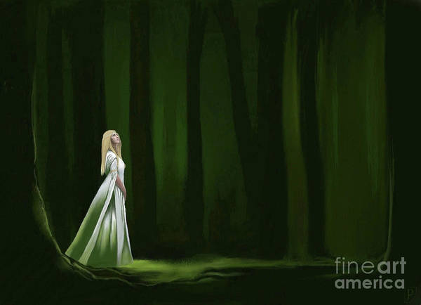 Frodo Digital Art - Lady Of The White Grotto by Gordon Palmer