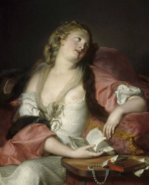 Wall Art - Painting - Lady Reading The Letters Of Heloise And Abelard by Bernard dAgescy