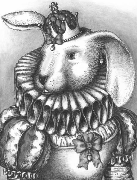 Pen And Ink Drawing Drawing - Lady Sadie Of Hoppington by Adam Zebediah Joseph