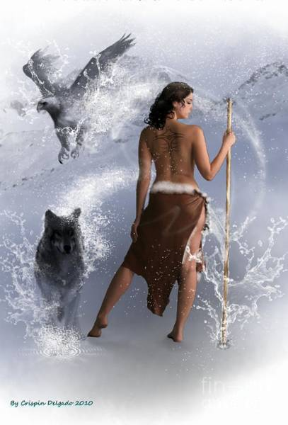 Shaman Digital Art - Lady Shaman by Crispin  Delgado