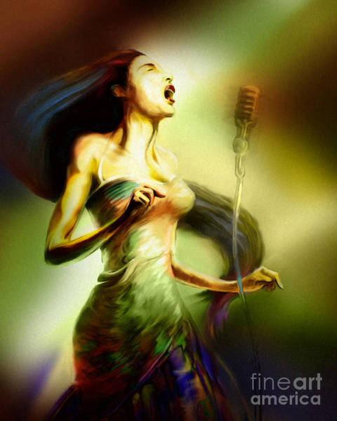 Wall Art - Painting - Lady Sings The Blues by Mike Massengale