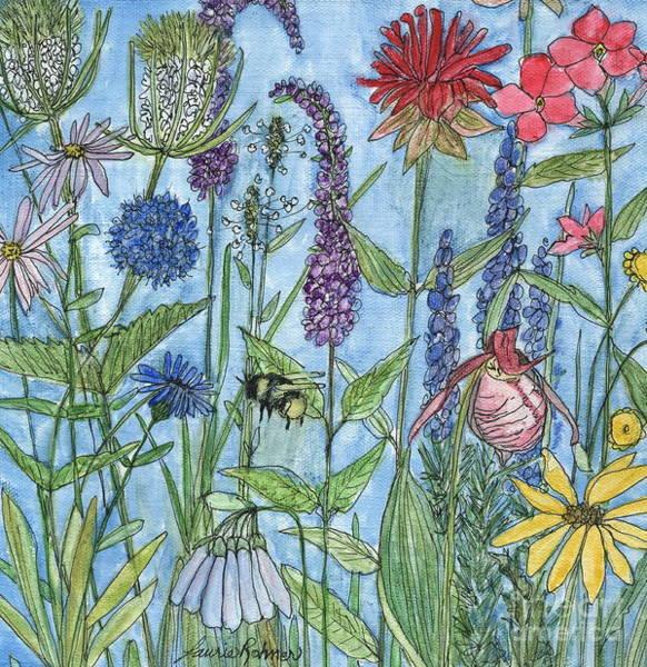 Lady Slipper In My Garden  Art Print