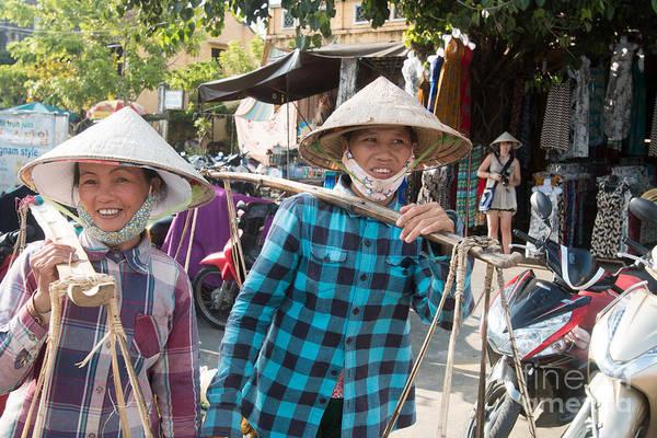 Quang Nam Province Photograph - Lady Street Food Vendors Hoi An Vietnam by Martin Berry