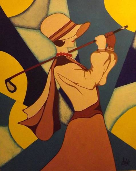 Acrilic Painting - Lady Swing by Anna maria Carnovale