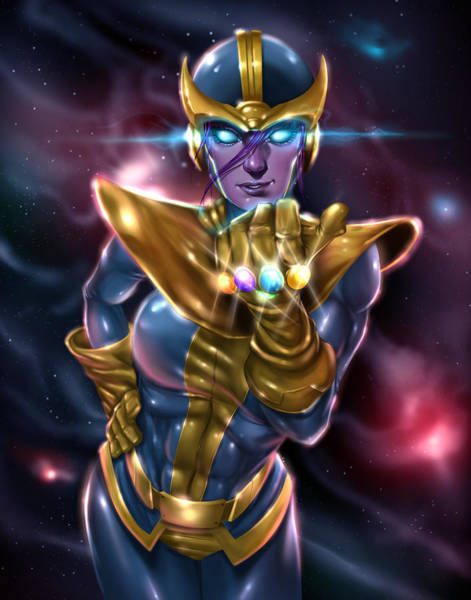 Painting - Lady Thanos by Pete Tapang