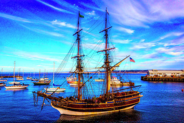 Monterey Bay Photograph - Lady Washington In Monterey Bay by Garry Gay
