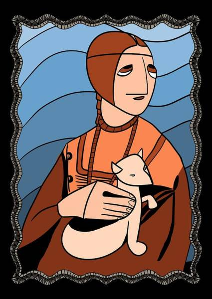 Lady With An Ermine By Piotr Art Print