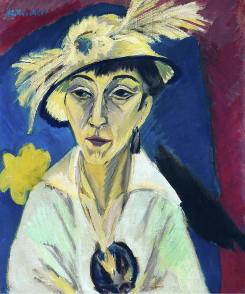 Painting - Lady With Hat By Ernst Ludwig Kirchner 1913  by Ernst Ludwig Kirchner