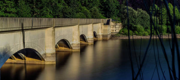 Photograph - Ladybower Reservoir Reflecting Viaduct by Scott Lyons