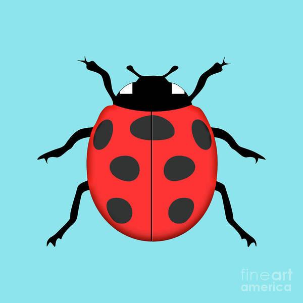 Wall Art - Digital Art - Ladybug by Gaspar Avila